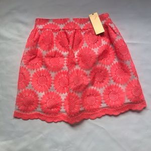 Francesca's lace and embroidered skirt size small.